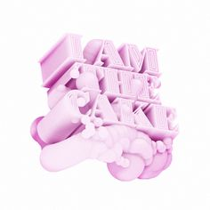 I AM THE CAKE by Piotr Buczkowski, via Behance