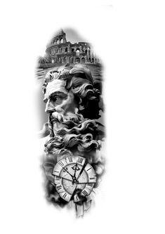 tattoo zeus mythology & tattoo zeus _ tattoo zeus mythology _ tattoo zeus preto e cinza _ tattoo zeus poseidon _ tattoo zeus greek gods _ tattoo zeus design _ tattoo zeus realismo _ tattoo zeus antebraço Zeus Tattoo, Juncha Tattoo, Tattoo Roman, Forarm Tattoos, God Tattoos, Statue Tattoo, Arm Sleeve Tattoos, Grey Tattoo, Tattoo Sleeve Designs
