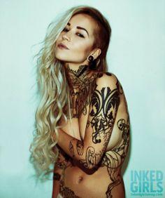 I just fell in love... Sara F, Inked Magazine, tattoed woman, inked girl.
