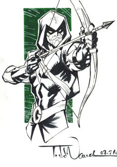 Green Arrow commission by Todd Nauck