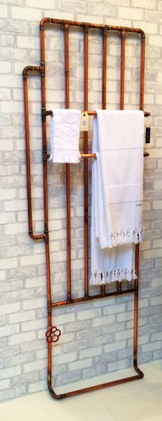 Handdoekenrek, koperen buizen WOONBEURS 2014