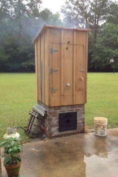 DIY wood smoker free plans from Ana White