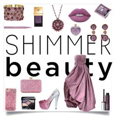 """SHIMMER BEAUTY STYLE"" by qstyled ❤ liked on Polyvore featuring Oscar de la Renta, RenéSim, Judith Ripka, Clinique, Yves Saint Laurent, Too Faced Cosmetics, Lime Crime, Bourjois, Vera Wang and Sophie Hulme"