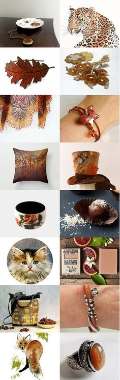 Jungle Cats and Foxes by Linda Karen on Etsy--Pinned+with+TreasuryPin.com
