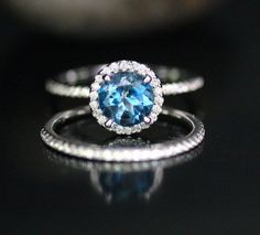 Hey, I found this really awesome Etsy listing at https://www.etsy.com/listing/202295539/london-blue-topaz-wedding-ring-set-in