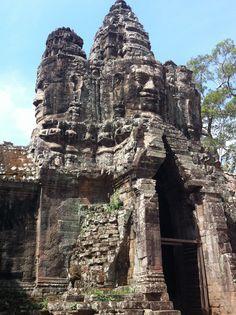 Angkor Thom, Siem Reap Cambodia #digitalnomad. At The Gates.