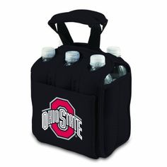 NCAA Ohio State Buckeyes Six Pack Cooler Tote by Picnic Time. NCAA Ohio State Buckeyes Six Pack Cooler Tote.