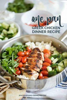 One Pan Greek Chicken Dinner Recipe