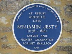Benjamin Jesty, pioneeer vaccinator, Blue Plaque