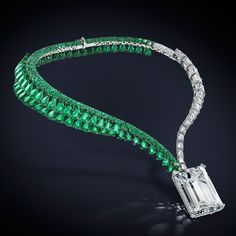 Diamond And Emerald Necklace by de GRISOGONO – Gorgeous Gems and Jewelry