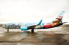 disneyland resort, airlin disney, airplanes, new adventures, alaska airlin, airplan art, disneyland plane, airlin introduc, airlin adventur