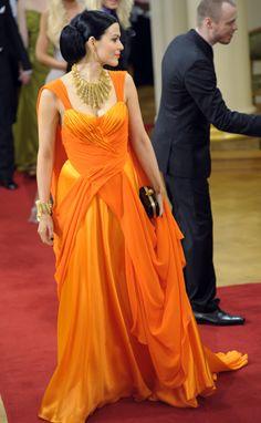 2011 *that* orange evening gown -  Jenni Vartiainen Kuva: Lehtikuva Copyright: MTV Oy