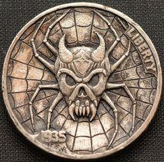 Old Coins, Rare Coins, Fantasy Logo, Custom Coins, 3d Cnc, Hobo Nickel, Coin Art, Arte Horror, Coin Jewelry