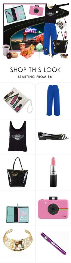 """Where Is The Vending Machine Located""? by sincitychic on Polyvore featuring Fendi, Salvatore Ferragamo, Kate Spade, Polaroid, Butter London, travel, roadtrip, hotel, motel and holidayinn"
