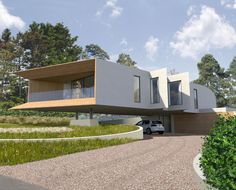 Cliff Top House. Entrance elevation. Contemporary Architecture. Hawkes. NPPF 55.