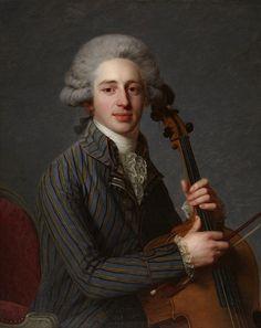 1788 Antoine Vestier - A Cellist  - Pinterest