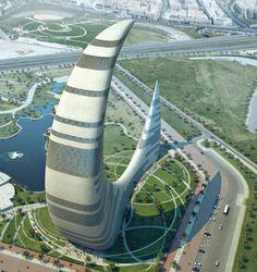 @ChampagneQueenn Cresent Moon, Dubai Architecture, Architecture Design, Architecture Moderne, Beautiful Architecture, Hotel A Dubai, Dubai Tower, Dubai City, Dubai Uae