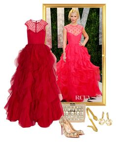 """""""Claire Danes – 2012 Vanity Fair Oscar Party."""" by foreverforbiddenromancefashion ❤ liked on Polyvore featuring Valentino, Elie Saab, BoyNYC and Frederic Sage"""