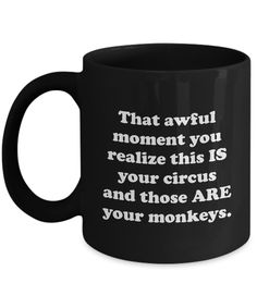 Your Circus Your Monkeys Funny Mug Gift for Teacher Teachers Students Teaching Student Elementary High School Professor Gifts Present Sarcastic Coffee Cup
