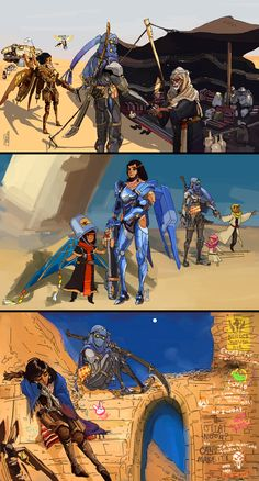 Pharah and Genji Help the Bedouin People | Overwatch | Know Your Meme