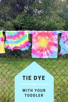 Dye With Your Toddler Try these Tie Dye Tips with Toddlers. They'll have fun with this DIY project, and you'll love how easy it is to clean up afterwards. Grab the tutorial to create them with your kids!Clean Clean may refer to: Toddler Ties, Toddler Fun, Toddler Crafts, Baby Crafts, Projects For Kids, Diy For Kids, Craft Projects, Crafts For Kids, Craft Ideas