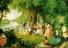 Lilly Martin Spencer (English-born American artist, The Artist and Her Family at a Fourth of July Picnic, c. 4th Of July Outfits, Fourth Of July, American Wings, Victorian Paintings, Painted Pumpkins, People Art, Art Studies, American Artists, Wedding Centerpieces