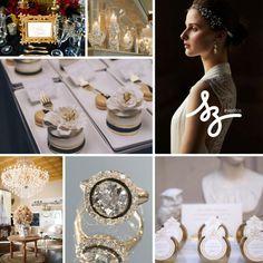 Negro y dorado para una boda glam
