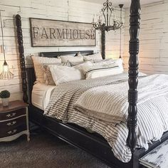 You couldn't decide which one to choose between rustic bedroom designs? Are you looking for a stylish rustic bedroom design. We have put together the best rustic bedroom designs for you. Find your dream bedroom designs. Home Decor Bedroom, Home Bedroom, Master Bedroom Design, Bedroom Makeover, Farmhouse Style Master Bedroom, Bedroom Design, Master Bedrooms Decor, Home Decor, Remodel Bedroom