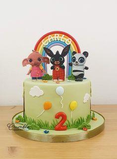 Bing Cake, Molly Cake, Boys 1st Birthday Cake, Cacao, Bingo, Fondant, Party Themes, Latte, Chloe