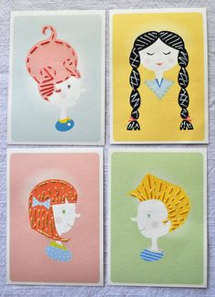 Cartões costurados DIY - Para imprimir e fazer
