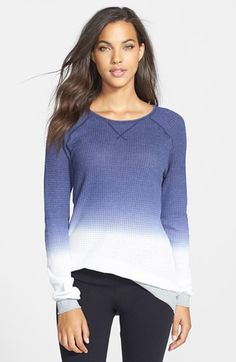 PJ Salvage Dip Dye Thermal Knit Tee available at #Nordstrom
