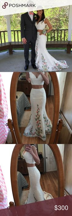 Sherri Hill Prom Dress Two piece prom dress with lace overlay. Worn once, great condition! Sherri Hill Dresses Prom