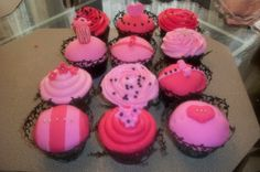 Victoria's Secret themed cupcakes