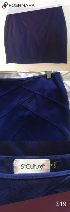 Royal Blue Jersey Mini Skirt Adorable royal blue mini skirt made of a good quality thick jersey. Label is M but really fits a S perfectly! Could fit an M too if you're ok with it being quite tight ;)  🌼 SPRING CLEANING SALE! 🌼  I will accept almost all reasonable offers!! Try me :)   Don't want to pay so much for shipping just one item?? Please check out my closet and bundle! I offer a 20% discount on 2 or more items!! 5th Culture Skirts Mini