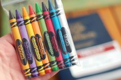 Crayons with the YW Values and scriptures printed on them. Great for a scripture study activity - mark verses as they apply to the YW values.
