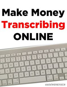 Change audio or video into text and get PAID for it! http://www.howtomakemoneyasakid.com/make-money-transcribing-online/