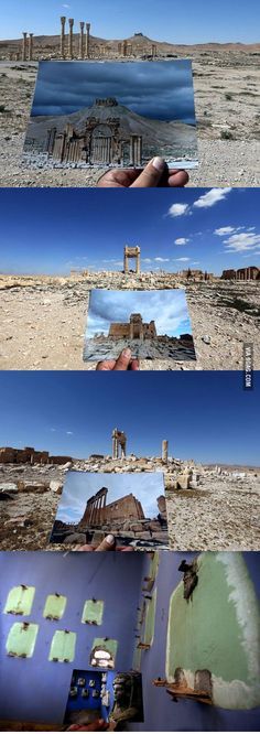 Syria oldest architecture site after removing it from isis hands...how sad it is to destroy your own history