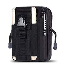 Zeato Tactical Molle EDC Utility Pouch Compact Gadget Belt Waist Pack with Cell Phone Holster Holder for iPhone X / 8 / 8 Plus Plus/ / 6 Plus Galaxy Note 5 Edge LG Sony and More (Black) Happy Marriage Tips, Police Wife Life, Phone Holster, Utility Pouch, Galaxy Note 5, Waist Pack, Tactical Knives, Stocking Stuffers, Edc