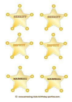 FREE Printable Sheriff, Deputy & Marshall Badges