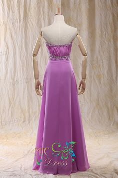 A-Line/Princess Sweetheart Floor-Length Chiffon Prom Dress With Ruffle and sequins and beads
