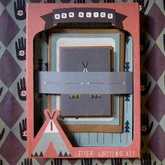 Set papier à lettre | tipi and arrows| Ask Alice