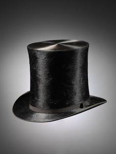 1850-1870, United Kingdom - Black silk top hat by Messrs Chapman & Moore