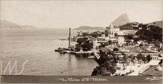 A Glória vista de Santa Teresa, Rio de Janeiro, 1880 (Foto: Marc Ferrez)