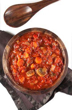 Chunky Vegetable Marinara Sauce