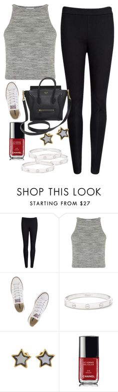 """""""Untitled #43"""" by marshaagitta ❤ liked on Polyvore featuring Ted Baker, Topshop, Converse, Cartier, Marc by Marc Jacobs, Chanel and CÉLINE"""