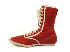 """Red Silk Satin """"Hood Seaview"""" Bathing Boots. USA. c. 1920-25 Vintage Wear, Vintage Shoes, Vintage Outfits, Vintage Fashion, Red Silk, Silk Satin, 1920s Bathing Suits, Icon Shoes, Shoe Boots"""