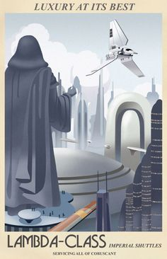 Coruscant Travel Poster