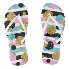 #glitter - #Cute modern glitter colorful flips flops flip flops