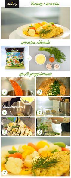 Burgery z soczewicy z warzywami przyrządzone na parze.  http://www.daucyinspiruje.pl/przepis/burgery-z-soczewicy/