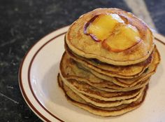 Baftani, Peach Pancakes with Flax and Chia Seeds.